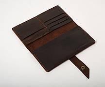 Шкіряне портмоне «Promo Brown» чоловіче коричневе (19,5x10 см) ручної роботи