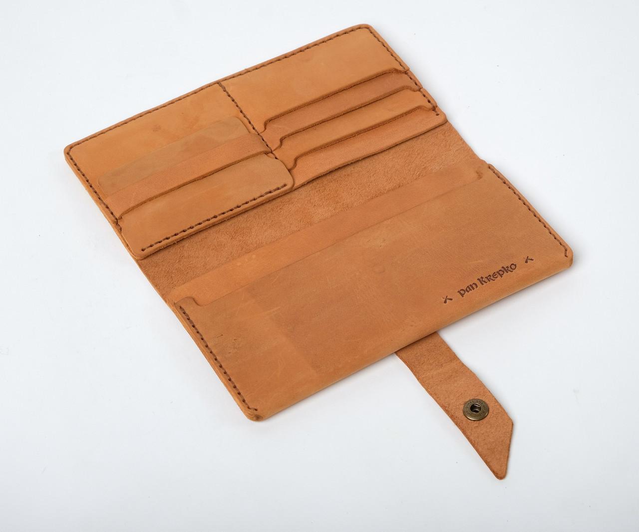 Кожаный кошелек Promo Песочный