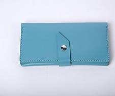 Кожаный кошелек Promo Голубой, фото 3