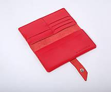 Кожаный кошелек Promo Красный