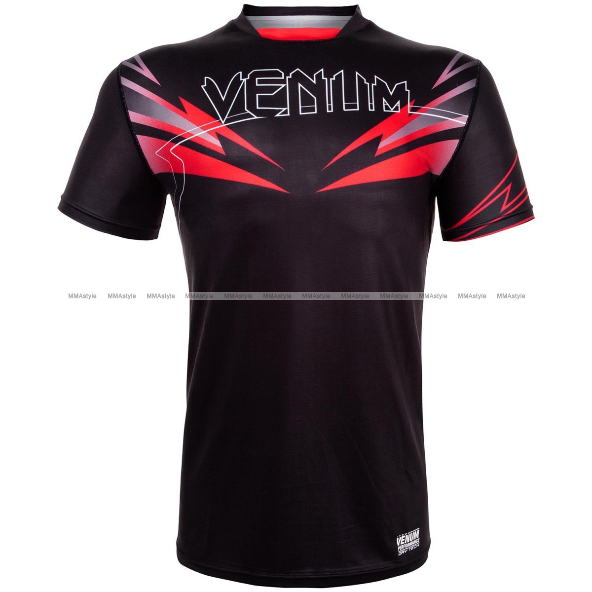 Футболка Venum Sharp 3.0 Dry Tech T-shirt Black Red
