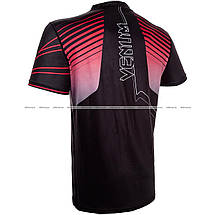 Футболка Venum Sharp 3.0 Dry Tech T-shirt Black Red, фото 3