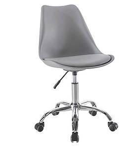 Пластиковое кресло на колесиках Астер SDM серое сидение с подушкой