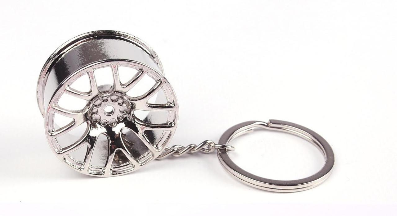 Брелок для ключів диск колісний (металевий/хромований) (Wheel-Chrome) AUTOTECHTEILE