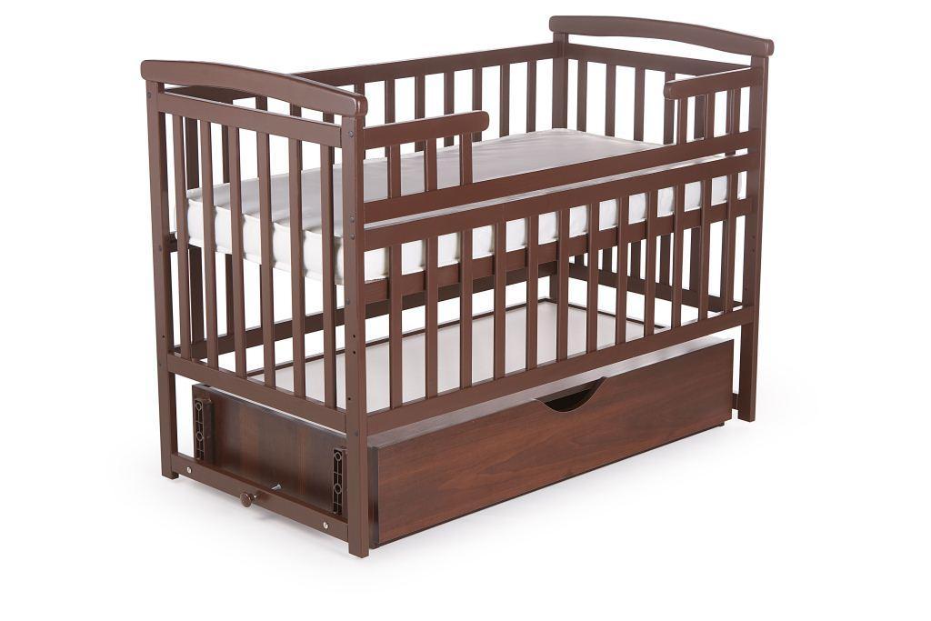 Детская кроватка-трансформер DeSon Лодочка с ящиком Орех