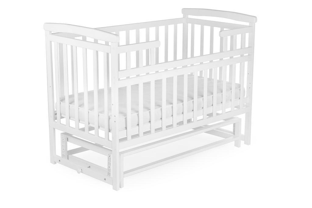 Детская кроватка-трансформер DeSon Белая Лодочка без ящика