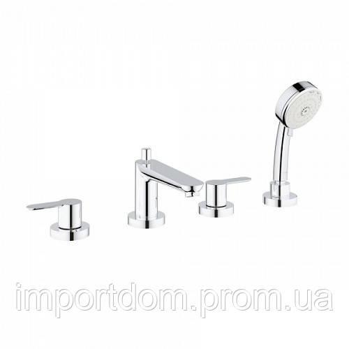 Смеситель для ванны на 4 отверстия Grohe BauEdge 2512000A хром