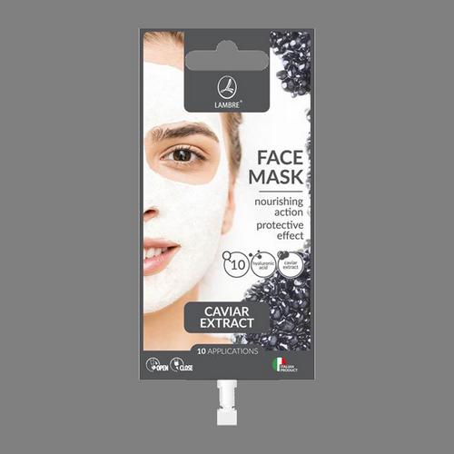 Питательная маска для лица LAMBRE FACE MASK CAVIAR с натуральным экстрактом чёрной икры 15 мл