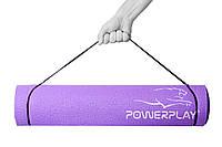 Килимок для фітнесу і йоги PowerPlay 4010 (183*61*0.6) Фіолетовий, фото 1