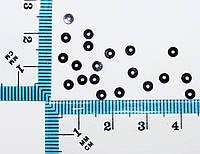 Пайетки круглые с отверстием. Цвет - черный голограмма, Ø - 3мм, уп/20 грамм. №104, фото 1