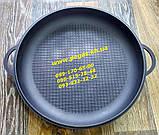 Казан азіатський чавунний з чавунною кришкою сковородою 10 літрів, печі, барбекю, мангал, фото 3