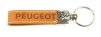 Брелок для ключів Peugeot (шкіряний/коричневий) AUTOTECHTEILE