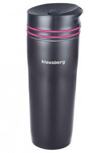 Термокружка Klausberg KB-7149 380мл Чорно-Розова