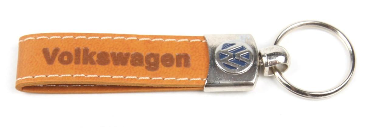 Брелок для ключів Volkswagen/VW (шкіряний/коричневий) AUTOTECHTEILE