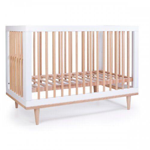 Кроватка детская Соня ЛД2 Нью-Йорк без колес, на ножках (цвет бело-буковый)