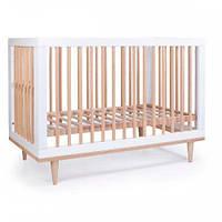 Кроватка детская Соня ЛД2 Нью-Йорк без колес, на ножках (цвет бело-буковый), фото 1