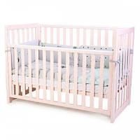 Кроватка детская Соня ЛД13 без колес, на ножках, сьемная спиця (цвет розовый)