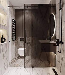 Стеклянные раздвижные двери в душ