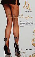 Сексуальные колготки в сеточку с атласными бантиками Beileisi 2040, фото 1
