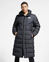 Зимняя мужская удлиненная и длинная куртка-пальто. Для высокого, худого широкоплечего мужчины ХС-12ХХЛ, фото 1