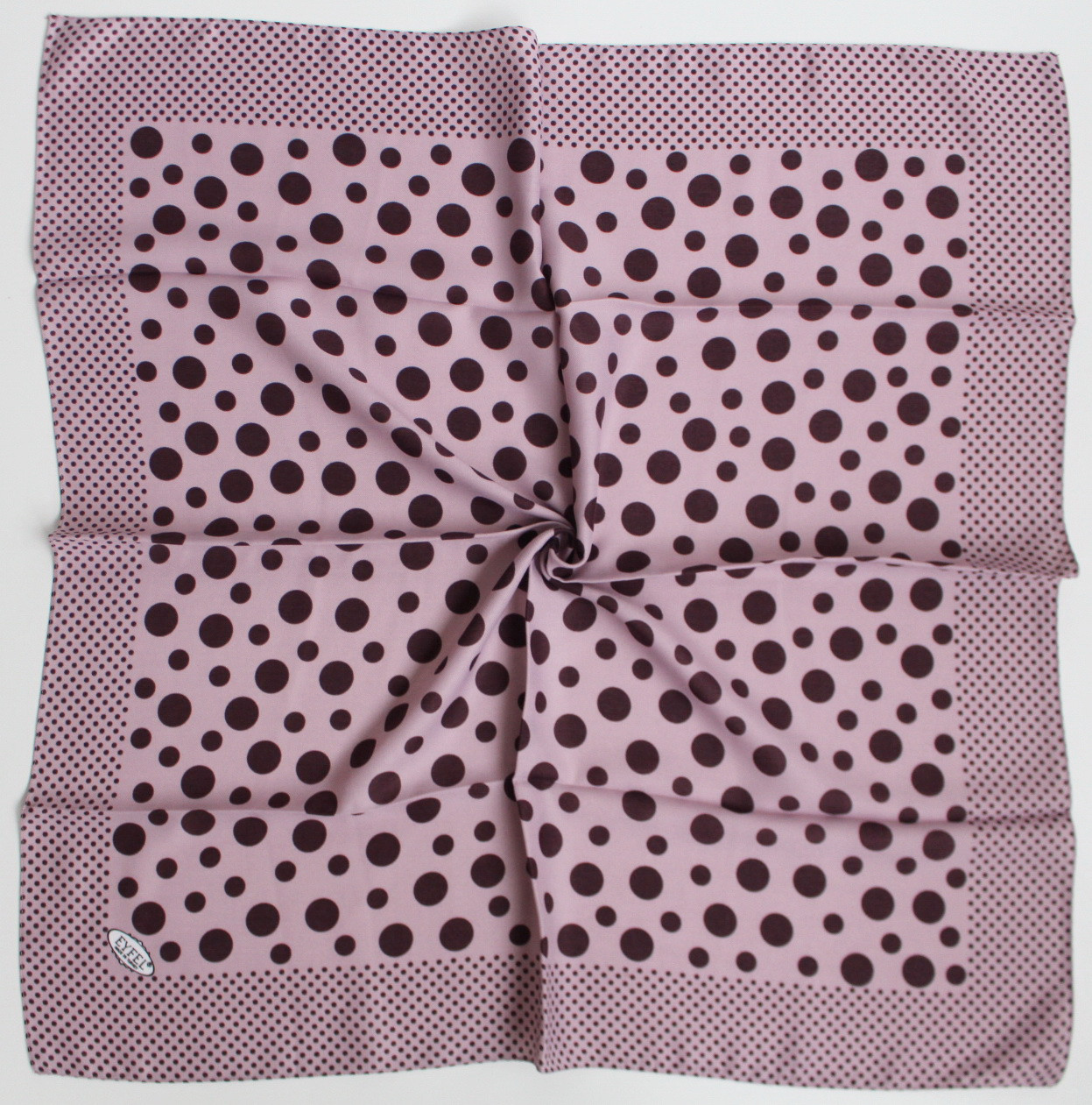 Платок Eyfel Амалия розовый в фиолетовый  горошек 208002