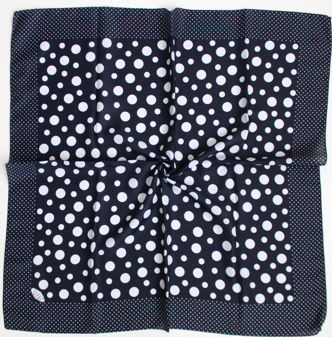 Платок Eyfel Амалия синий в белый горошек 208006