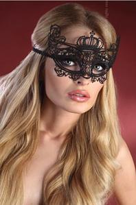 Кружевная маска на глаза корона