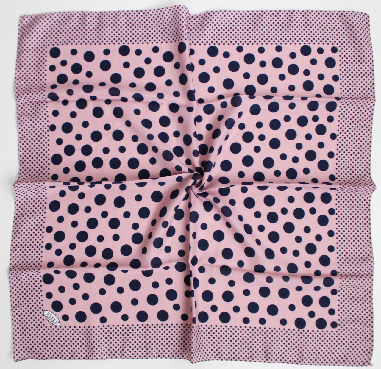 Платок Eyfel Амалия розовый в синий горошек 208009