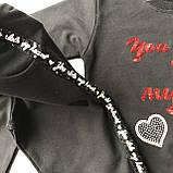 Костюм черный на девочку Breeze 80. Размер 110 см, 116 см (6 лет),  128 см, 134 см, 140 см, фото 3