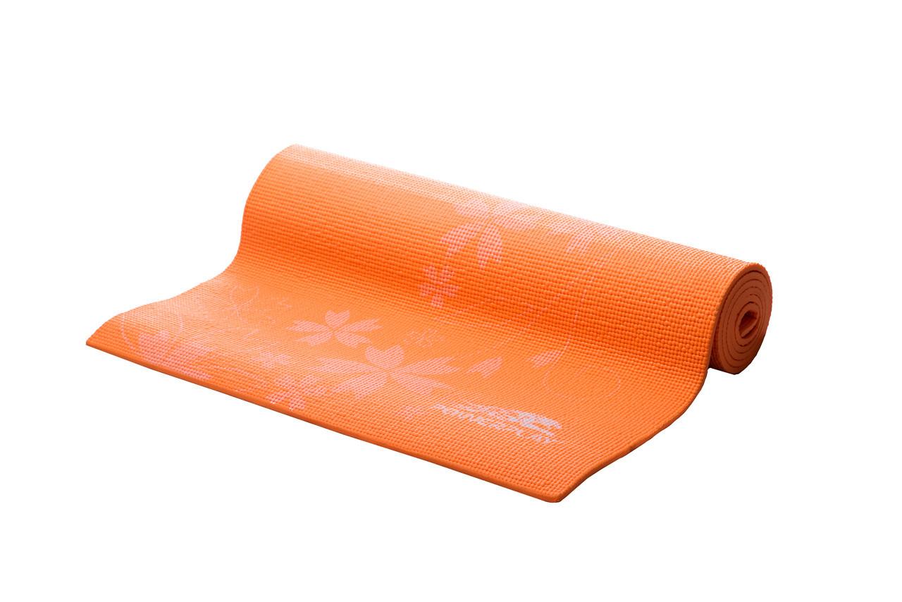Килимок для фітнесу і йоги PowerPlay 4011 (173* 61*0.8) Оранжовий