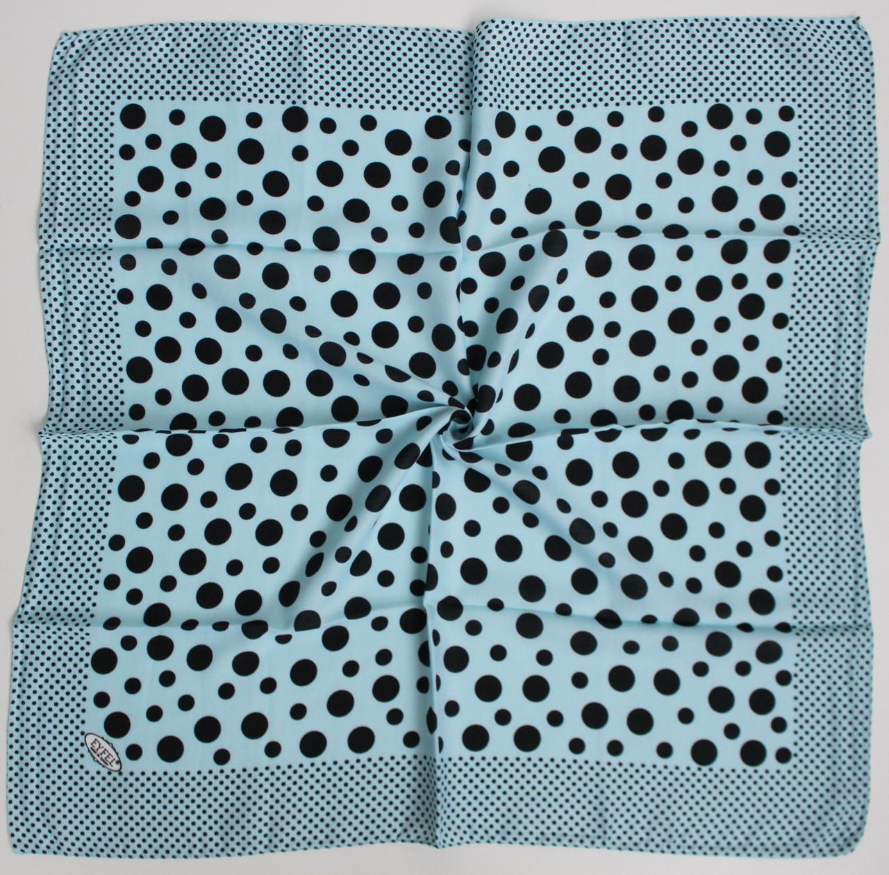 Платок Eyfel Амалия голубой в черный горошек 208015
