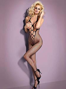 """Бодистокинг сетка с открыто грудью и зоной бикини сексуальный комбинезон сетка """"откровенность"""""""