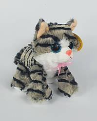 Плюшевая детская игрушка кошка музыкальная 18 см х 22 см