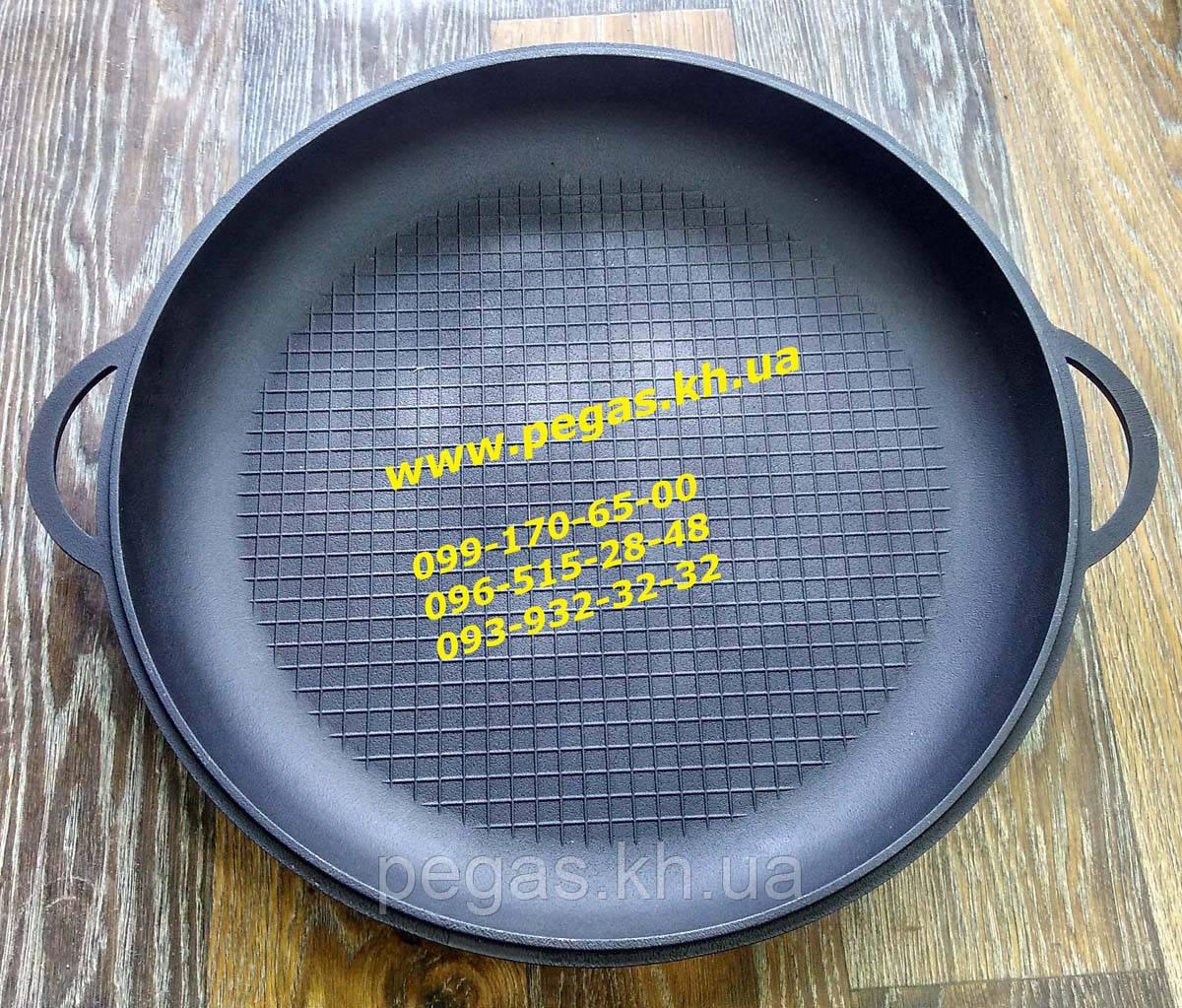 Крышка сковорода чугунная 400 мм. чугунное литье, барбекю, мангал, печи