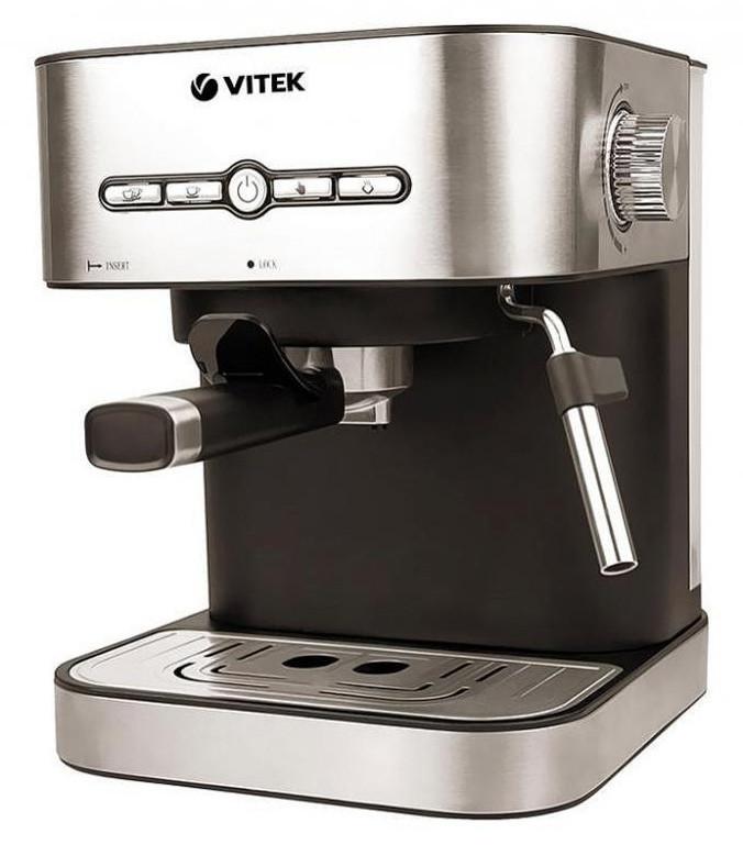Кофеварка рожковая эспрессо VITEK VT-1526 1.4 л 1050 Вт Нержавеющая сталь