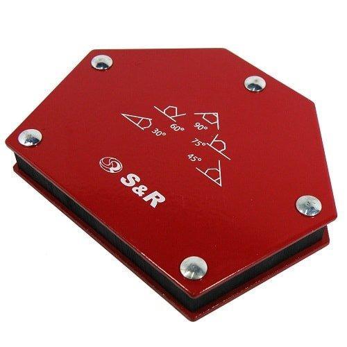 Магнитный держатель для сварки 23 кг пятиугольный 30°, 45°, 60°, 75°, 90° S&R (Германия)