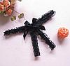 Эротические трусики кружевные бабочка Черные, фото 4