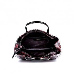 Женская сумка Assa 1088б кожаная с принтом под змею, фото 2
