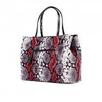Женская сумка Assa 1088б кожаная с принтом под змею, фото 3