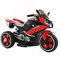 Детский электромобиль трицикл красный пластиковые колеса от 3-х до 5-ти мотор 2*20W с МР3
