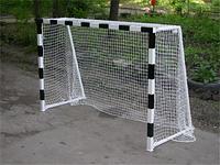 Ворота мини-футбольные или гандбольные неразборные 3000х2000 полосы наклеенные с оракала