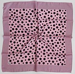 Платок Eyfel Амалия розовый в фиолетовый горошек 208-11