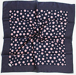 Платок Eyfel Амалия синий в розовый горошек 208-12