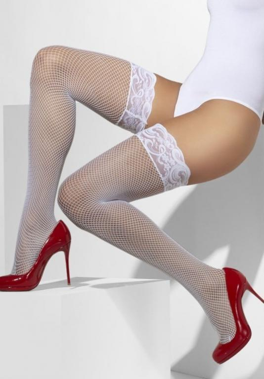 Сексуальные чулки в сетку Белый