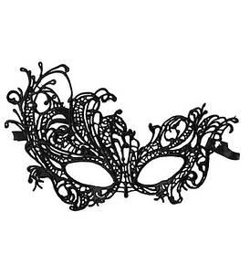 Маска на глаза кружевная карнавальная маска Черная