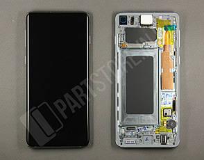 Дисплей Samsung g973 Green s10 (GH82-18850E) сервисный оригинал в сборе с рамкой, фото 2