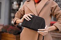 Косметичка - кошелек 2 в 1. Выполнена из натуральной кожи питона.