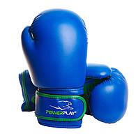 Боксерські рукавиці PowerPlay 3004 JR Синьо-Зелені 8 унцій, фото 1