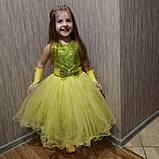 Детские нарядные платья с пайетками на рост 92-110, фото 9