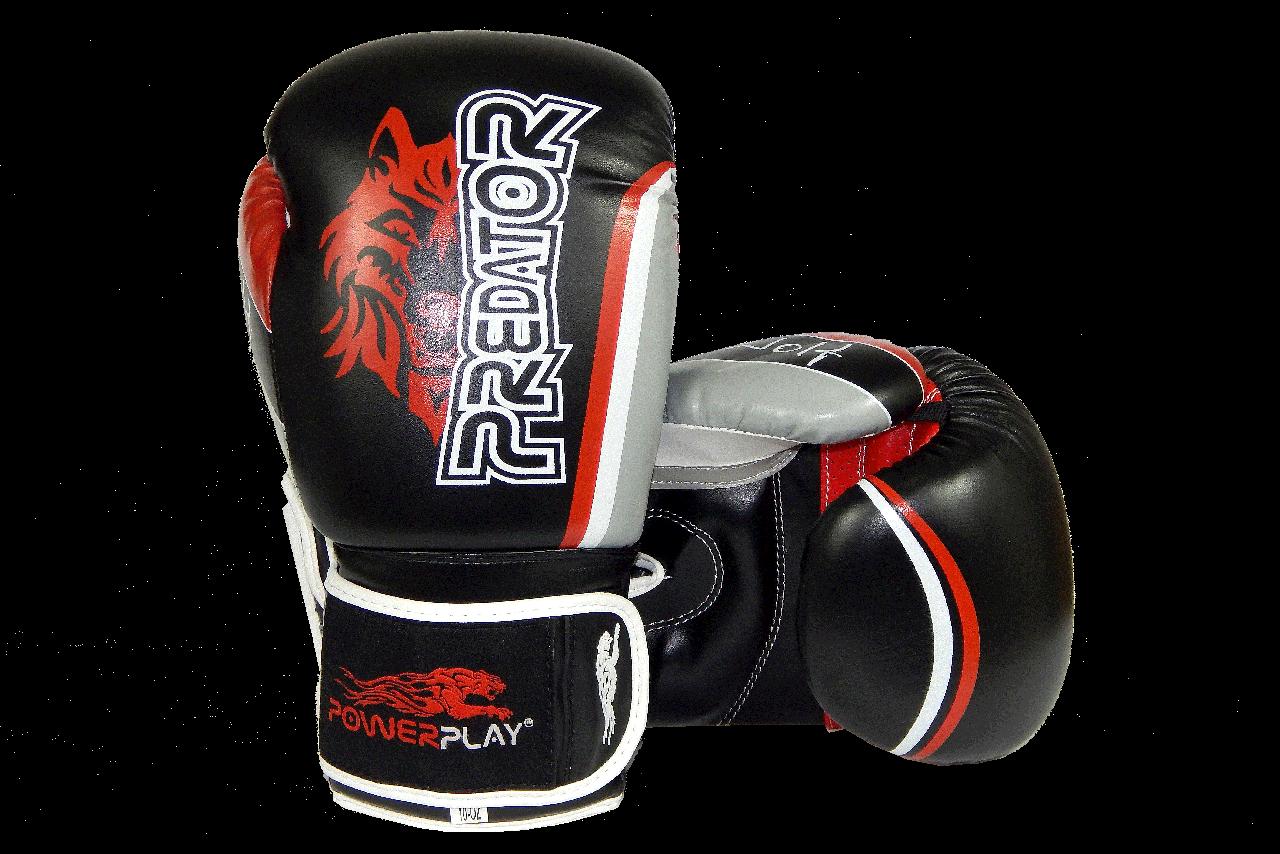 Боксерські рукавиці PowerPlay 3005 Чорні 12 унцій